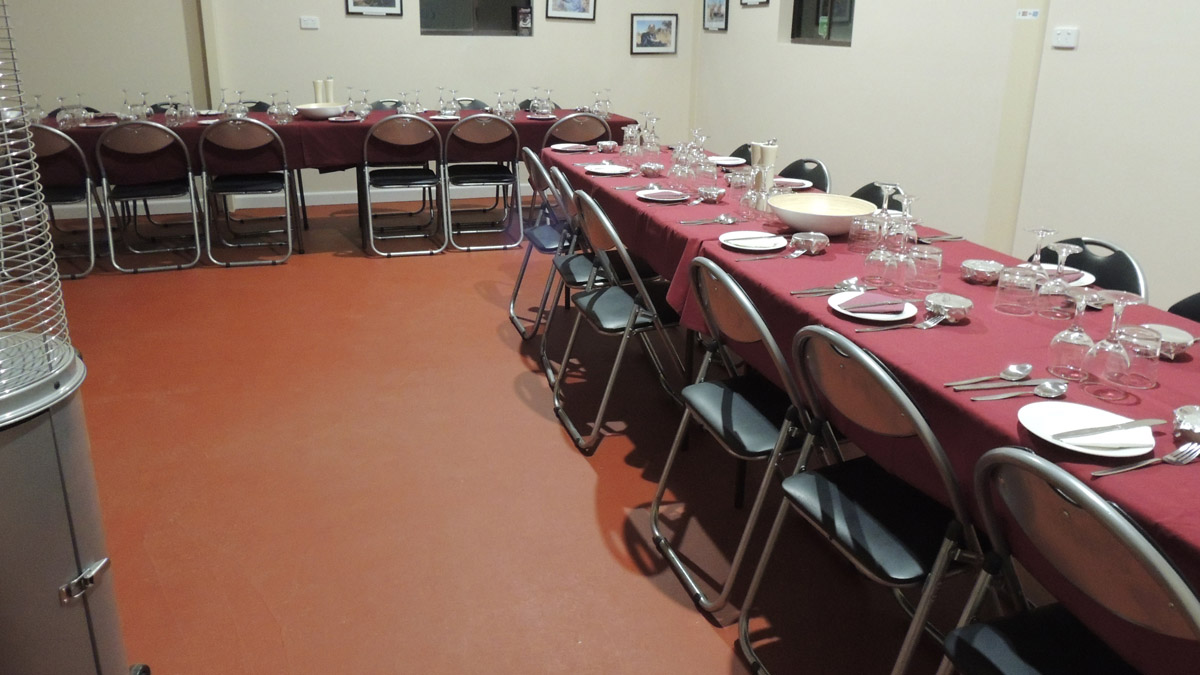 Photo of tables set up for private event dining