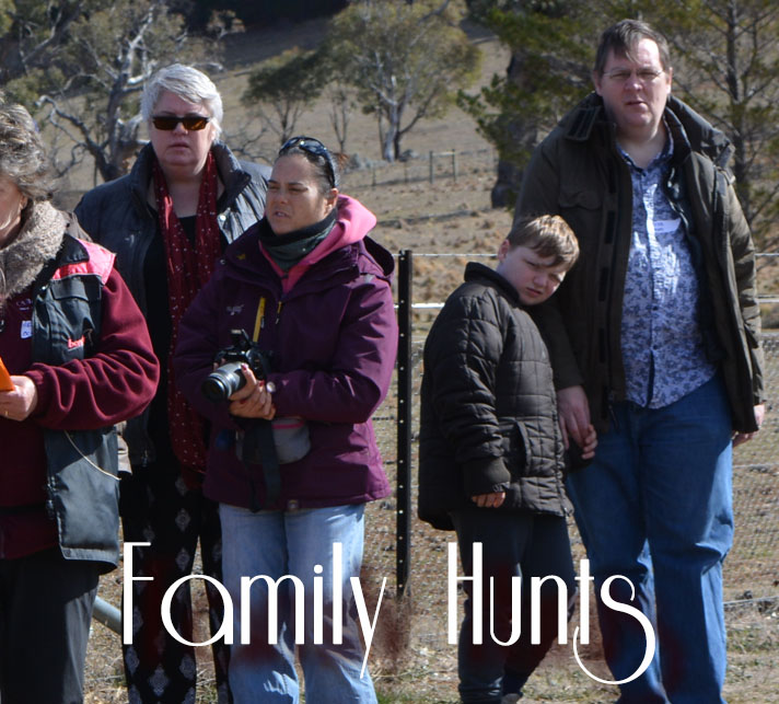 Photo of a family at a hunt.