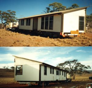 Our homestead as it arrived the top is the front and botton the rear