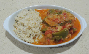 Ratatouill with pearl couscous